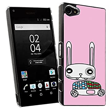 Carcasa para Sony Xperia Z5 Compact - Diseño - Conejo rosa ...