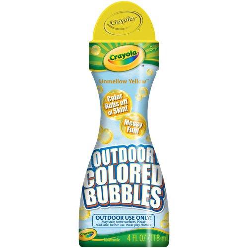 Crayola Outdoor Colored Bubbles Unmellow Yellow- 4 fl oz