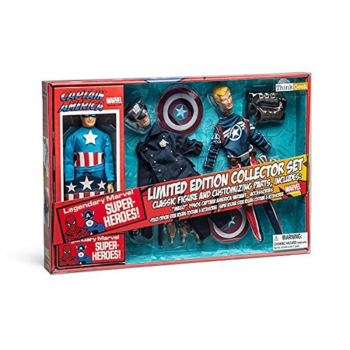 Diamond Select Toys Marvel Retro Captain America Action Figure Set Limited Edition Exclusive Version