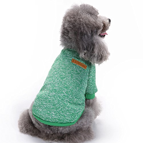 CHBORLESS Pet Dog Classic Knitwear Sweater Warm Winter Puppy Pet Coat Soft Sweater Clothing For Small Dogs (M, - Clothing Dog Winter