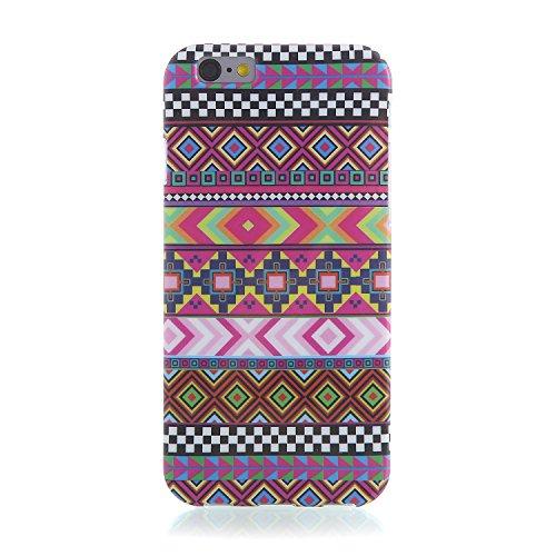 "RE:CRON® iPhone 6 (4,7"") Handy Schutzhülle Case Cover Motiv – Hippy Muster"
