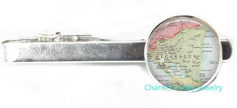 Guatemala map Tie Clip,Guatemala map Tie Pin,Guatemala map Jewelry,Guatemala Tie Pin Travel map map Jewellery.D0112