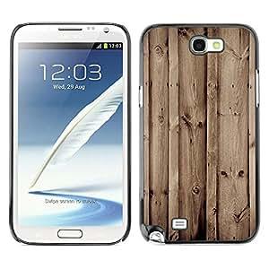 Caucho caso de Shell duro de la cubierta de accesorios de protección BY RAYDREAMMM - Samsung Note 2 N7100 - Madera Retro
