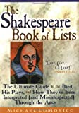 Shakespeare Book of Lists