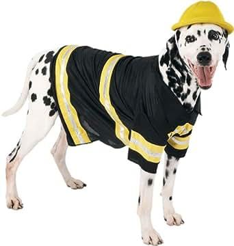 Amazon.com: Dog Firefighter Costume (Size: Small): Clothing