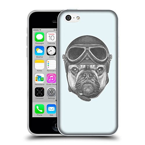 GoGoMobile Coque de Protection TPU Silicone Case pour // Q05250619 Casque bulldog Bulles // Apple iPhone 5C