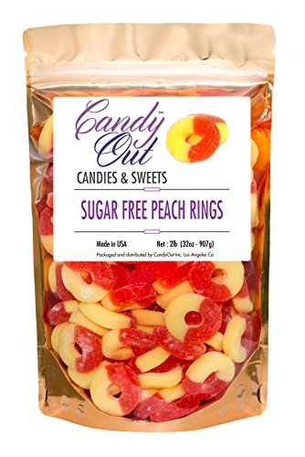 sugar-free-peach-rings-gummy-candy-2lb-32oz-in-resealable-stand-up-bag
