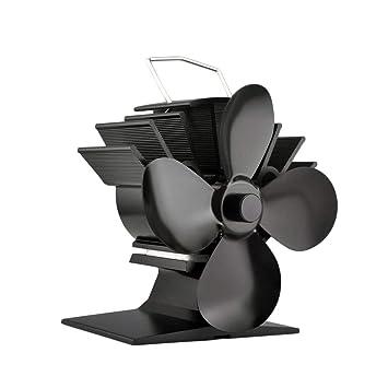 Sólido ventilador de estufa de combustible alimentado por calor de 4 cuchillas Ventilador de estufa de