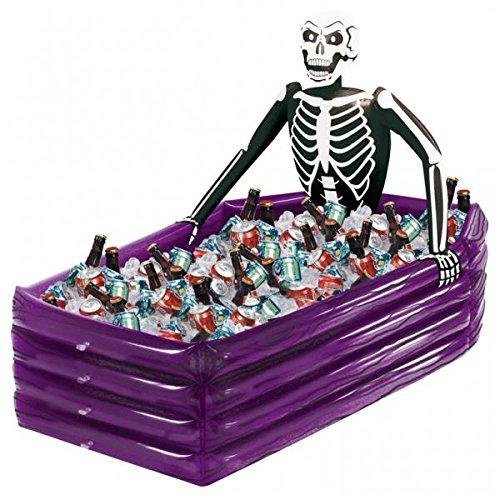 Asoma hinchable esqueleto ataúd Halloween decoraciones enfriador ...