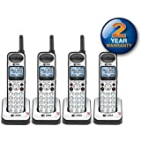 AT&T SB67108 Wireless Handheld Telephone and Charger with New DECT 6.0 Technology (4 Pack)