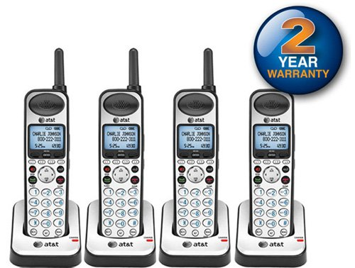 s Handheld Telephone and Charger with New DECT 6.0 Technology (4 Pack) ()