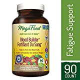 MegaFood - Blood Builder, Support for Healthy Energy Levels and Red Blood Cell Production, Iron, Beet Root, and Folate, 90 Tablets