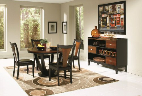 Coaster 102091 102092 Boyer 5 Piece Round Dining Table Side Chairs Set by Coaster Home Furnishings