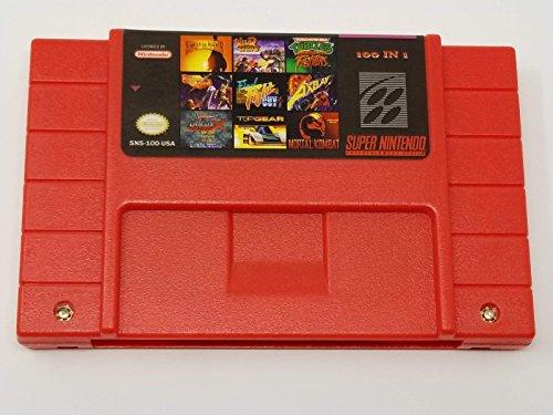 Hip Hop Electronics Super NES 100 in 1 Game Cartridge 16 Bit SNES for Super Nintendo