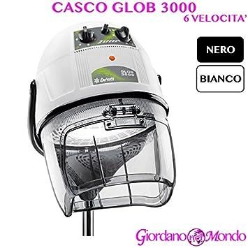 Casco pelo Peluquería blanco o negro 4 Velocita Glob 3000 Ceriotti arredamento