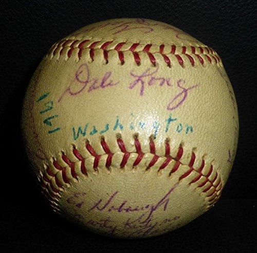 - 1961 Washington Senators Team 28x Signed Baseball LOA Inaugural Season - PSA/DNA Certified - Autographed Baseballs