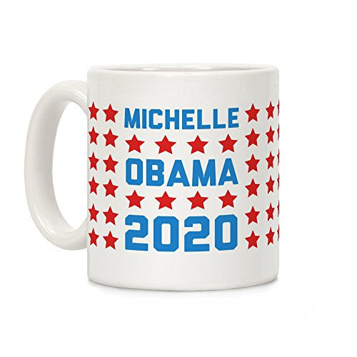 Michelle Obama 2020 White 11 Ounce Ceramic Coffee Mug by - Michelle Obama Glasses