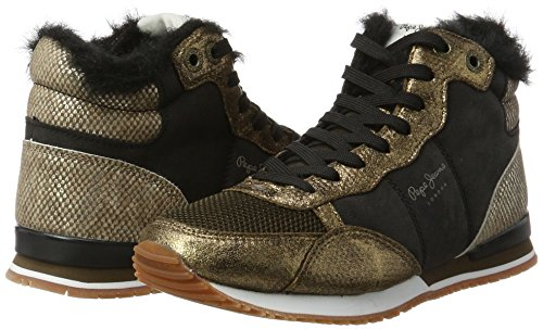 Pepe Jeans Damen Gable Fur Bootie Hohe Sneaker