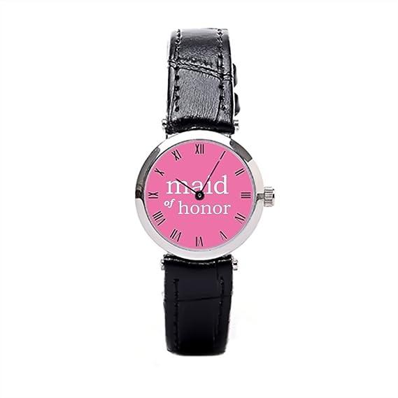 papibaby mejor relojes dama de honor de piel reloj de pulsera mujer