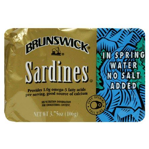 Brunswick Sardines (Brunswick Sardines In Spring Water, 3.75 Ounce Tins (Pack of 25))