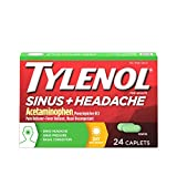 Tylenol Sinus + Headache Non-Drowsy Daytime Caplets with Acetaminophen & Phenylephrine HCl, 24 ct