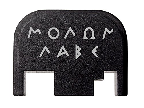 Plate Billet - NDZ Performance for Glock 17 19 21 22 23 27 30 34 36 41 Rear Plate Blk G1-4 Molon Labe 1