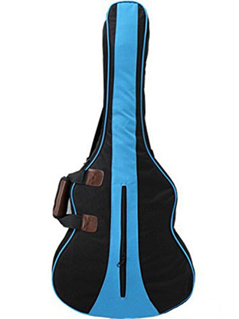 MiraTekk Nylon Cotton Guitar Bag|Guitar case|Guitar Backpack case with Pocket|Gig Bag|Acoustic|Electric|Guitar Bag|Guitar case|(Blue - 34 inch)