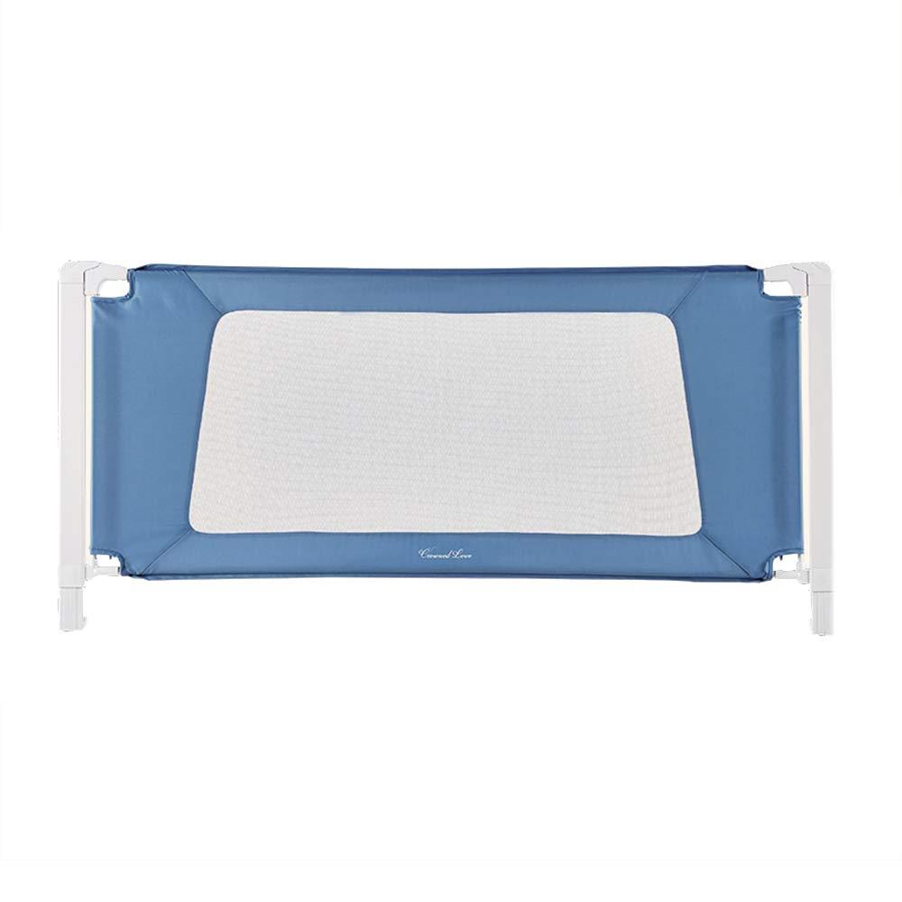 LHA ベッドガードフェンス 子供の調節可能なガードレール-150cm、180cm、200cmに適したポータブルベッドガードレール (色 : 青, サイズ さいず : L-180cm) L-180cm 青 B07L49Z3GS