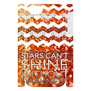 """Canting_Good Chevron Night view """"Stars Can't Shine Without Darkness"""" Custom Dual-Protective 3D Polymer Case Shell Cover for IPhone 5"""