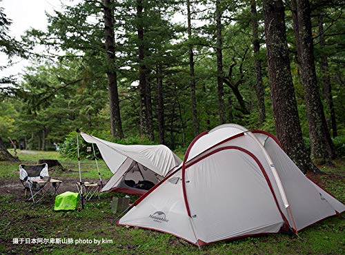 Naturehike Hiby Series Family Tent 20D Ultralight Fabric For 3 Person With Mat NH18K240-P