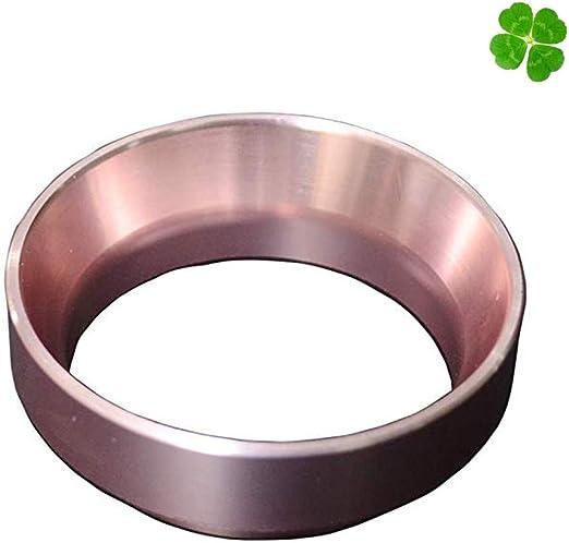 Dorado Reemplazo del Anillo de Dosificaci/ón de Aluminio del Embudo Dosificador de Caf/é Expreso para Portafiltros de 58 mm