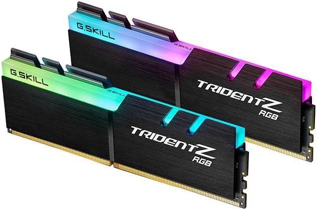 G.SKILL 16GB (2 x 8GB) TridentZ RGB سلسلة DDR4 PC4-19200 2400ميجا هرتز AMD X370 / X399 موديل F4-2400C15D-16GTZRX