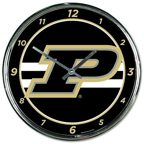 (Wincraft Purdue Boilermakers NCAA Chrome Plated Clock - Team)