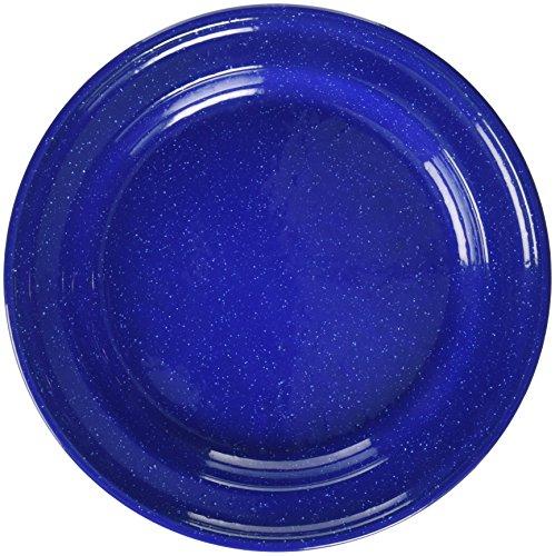 10 Inch Enamelware Plate - Texsport Enamel Dinner Plate, 10