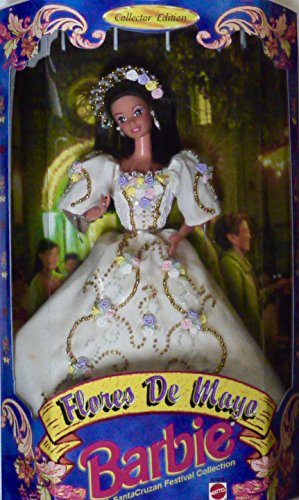 Vintage Filipina Flores de Mayo LE Reyna de las Flores Barbie in Pineapple Fiber Gown with - Barbie Filipino Dolls