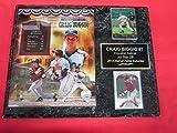 Astros Craig Biggio 2 Card Collector Plaque w/ 8x10 Hall of Fame Photo