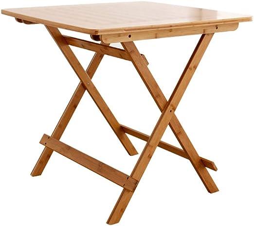 mesa plegable y Simple hogar portátil de bambú pequeña Mesa ...