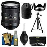 Nikon 18-200mm f/3.5-5.6G VR II DX ED AF-S Nikkor-Zoom Lens + Tripod + 3 UV/FLD/CPL Filters + Kit for D3200, D3300, D5300, D5500, D7100, D7200 Camera