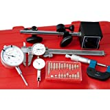HHIP 4902-0006 6 Piece Inspection Kit Caliper, Magnetic Base, Indicators, Micrometer, Point Kit
