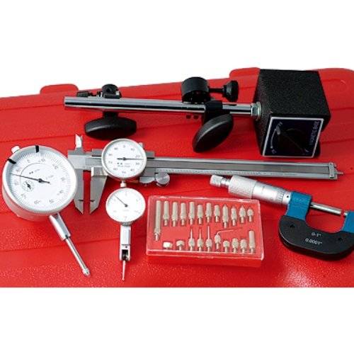 HHIP 4902-0006 6 Piece Inspection Kit Caliper, Magnetic Base, Indicators, Micrometer, Point Kit