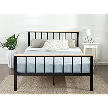 Amazon Com Zinus Contemporary Metal And Wood Platform Bed