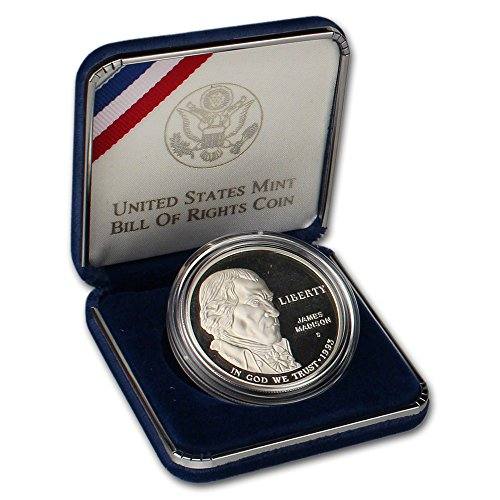 1993 S US Commemorative Proof Silver Dollar Bill of Rights $1 OGP US ()