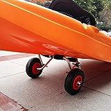 ZXAZX Universal Puncture Proof Rubber Kayak Trolley