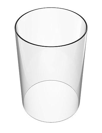 Amazon.com: U-Play - Jarrón cilíndrico de cristal para ...