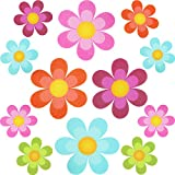 30 Pieces Non Slip Bathtub Stickers Adhesive Decals with Bright Colors, Daisy Bath Treads and Anti-Slip Appliques for Bath Tub, Stairs, Shower Room and Other Slippery Surfaces, Multi-Color Flowers