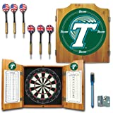Trademark CLC7000-TUL NCAA Team Logo Dart Cabinet With Darts and Board, Tulane University