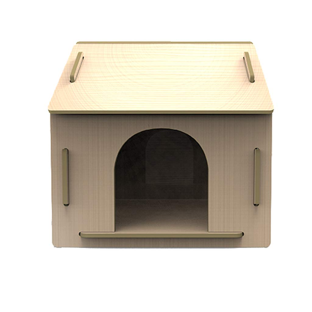 A Pet nest wooden outdoor kennel in the large dog kennel Teddy Wo dog house four seasons universal small wood color