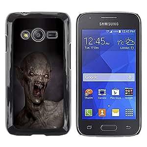 rígido protector delgado Shell Prima Delgada Casa Carcasa Funda Case Bandera Cover Armor para Samsung Galaxy Ace 4 G313 SM-G313F /Teeth Kill Death Monster Creepy/ STRONG