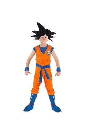 Chaks Disfraz Goku Dragon Ball Z niño 11 a 12 años: Amazon ...