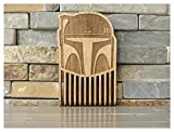 Boba Fett Wood Beard Comb // Dark Side